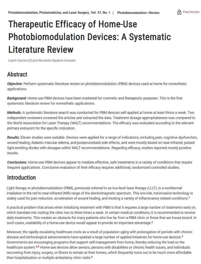 Therapeutic-Efficacy-of-Home-Use-Photobiomodulation