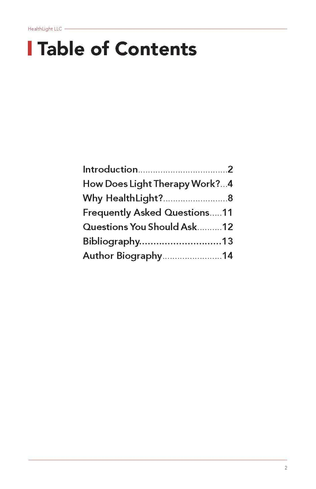 Introduction to Light Therapy eBook pg. 2 Page 1